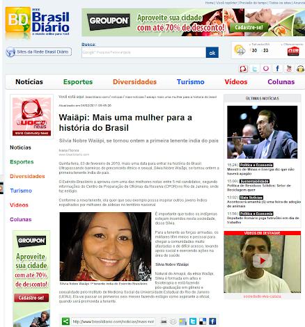 Waiãpi: Mais uma mulher para a História do Brasil