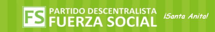 Partido Descentralista Fuerza Social - Santa Anita
