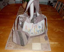 Väska och sminkväska i japanska tyger