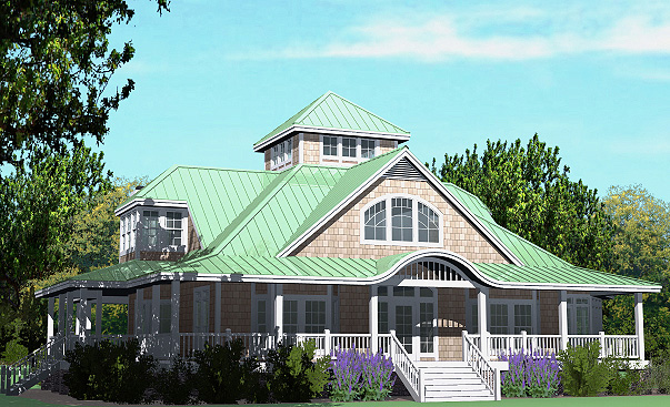 Southern cottages house plans modern day widow 39 s walk for Modern southern homes
