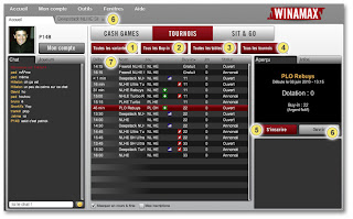 lobby winamax cash game tournoi sit and go texas hold em et omaha