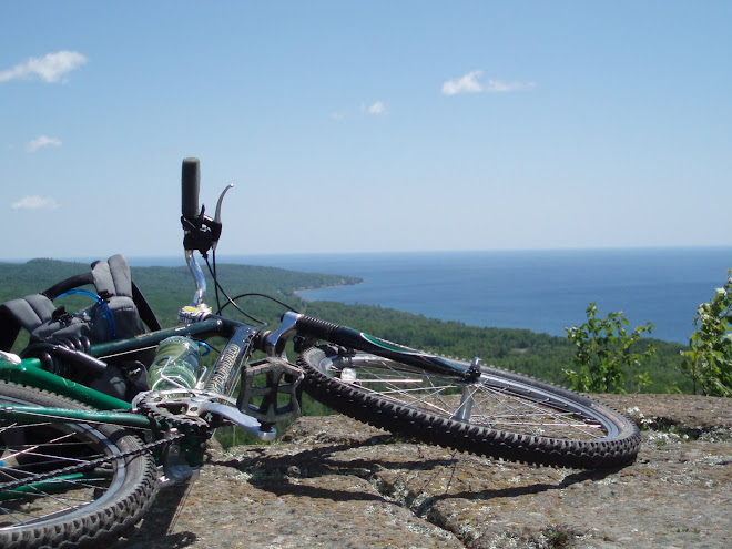Bike on rock