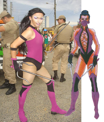 mortal kombat 9 jade alternate costume. mileena mortal kombat 9