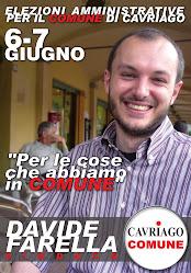 il CANDIDATO SINDACO di CAVRIAGO COMUNE alle AMMINISTRATIVE 2009: DAVIDE FARELLA