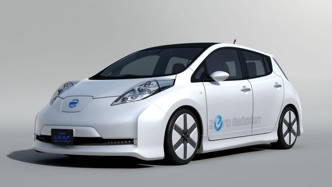 Nissan leaf aero concept to debut tokyo auto salon