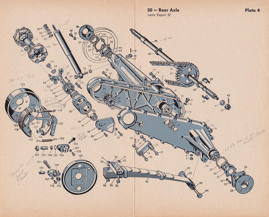 Bzs Bmw Isetta 300s 300 Parts Plates Exploded Diagrams Arnolt Bristol Wiring Diagram