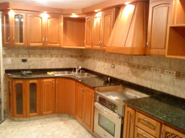 Cocinas integrales for Cocinetas de madera