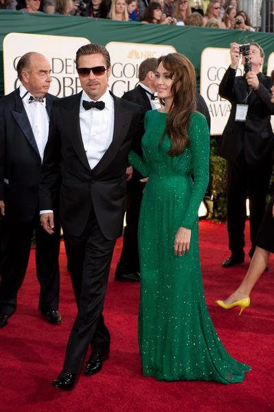 brad pitt 2011 pictures. Golden Globes 2011 Red Carpet
