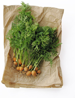 Parmex carrots on a paper bag