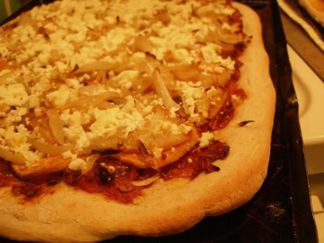 Thy Hand Hath Provided: Sweet Potato, Caramelized Onion & Feta Pizza