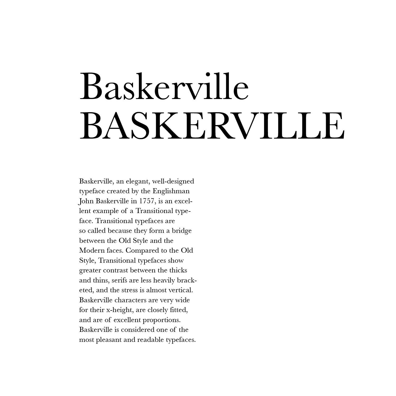 Art3990c Typography Type Arrangements Baskerville