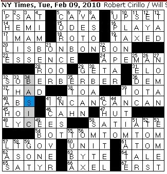 movable article personal property crossword