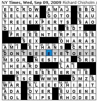 Free Crossword Puzzle Generator  Mountainside Bride