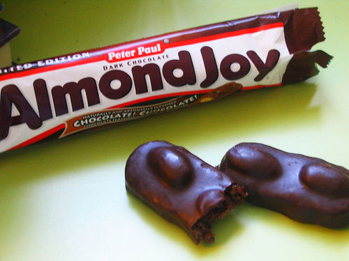 dark chocolate almond joy