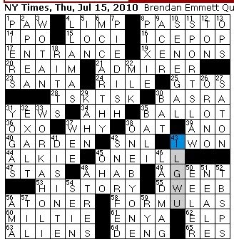 Rex Parker Does The Nyt Crossword Puzzle Old Tv Uncle Thu 7 15 10 River Site Javert 39 S