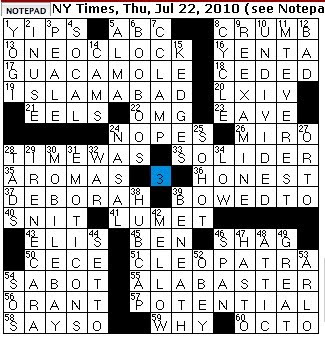 Rex Parker Does the NYT Crossword Puzzle: Unagi sources / THU 7-22 ...
