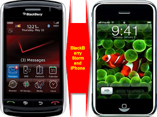 BlackBerry Storm and Apple iPhone