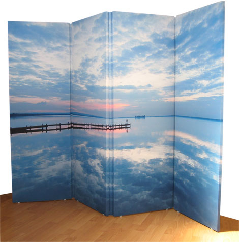 Colour your world make your own fabric room divider for Make your own room divider