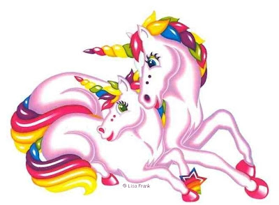 drawing of a unicorn by Lisa Frank