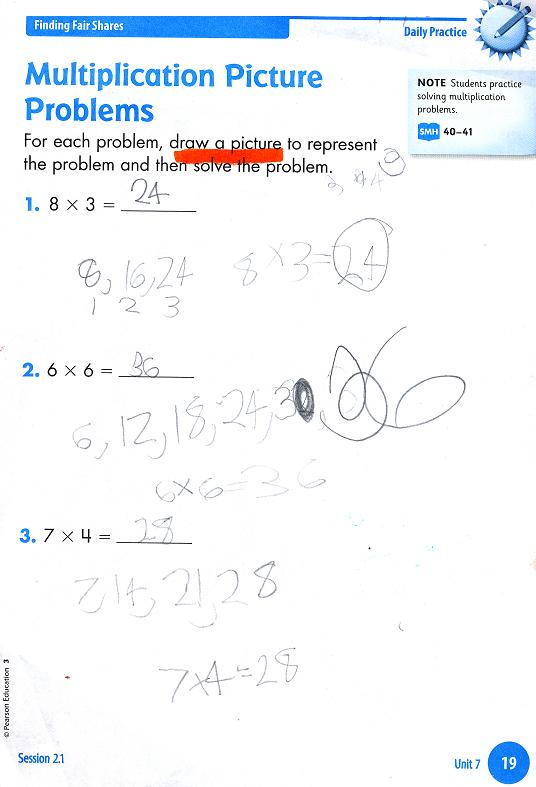 Math exam for 7th grade