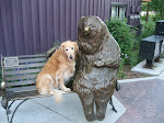 Scout and friend in Park City, Utah