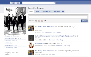 Fans The Beatles on Facebook