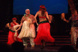 A Christmas Hula dancer plucked from the audience