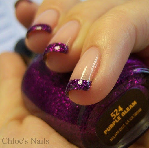 Chloe 39 S Nails Purple Gleam Funky French