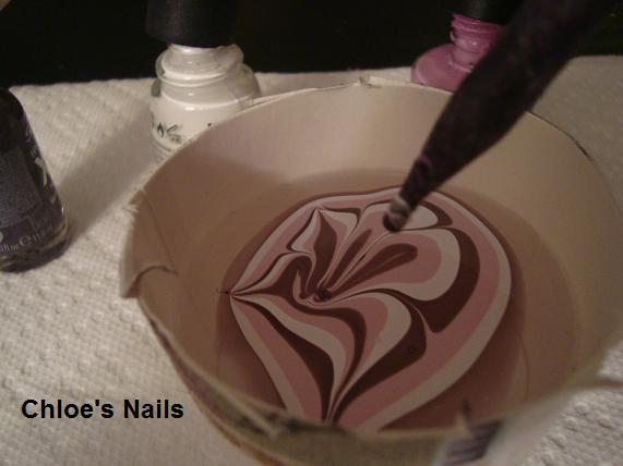 اموزش طراحی روی سنگ نمک Chloe's Nails: Water Marble Picture Tutorial