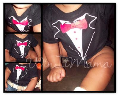 WinItMama Tuxedo T-Shirts Online Onesie Review