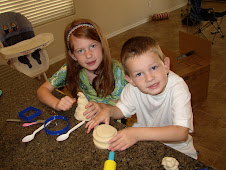 Mariah and Jayden playing with play-doh
