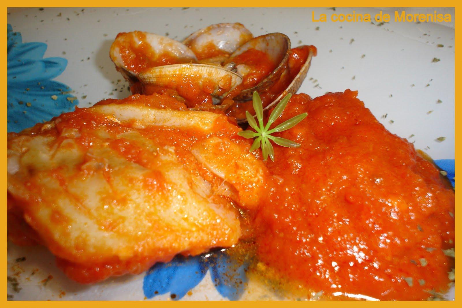 La cocina de morenisa bacalao con tomate y almejas - Bacalao fresco con tomate ...