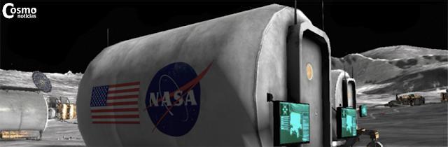 Captura de pantalla que muestra parte de la base lunar