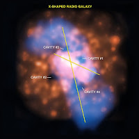 Imagen de rayos X y radio de la galaxia 4C +00.58