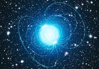 Impresión artística del magnetar en el cúmulo estelar  Westerlund 1