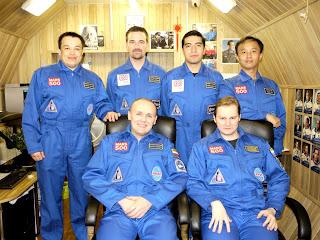 Los seis tripulantes de la misión Mars500
