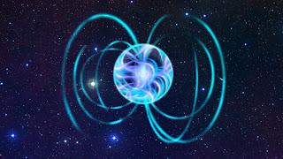 Representación artística de un magnetar