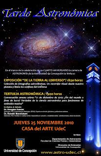 Afiche del evento 'Tarde Astronómica'