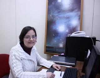 Fotografía de la astrónoma Katrien Steenbrugge