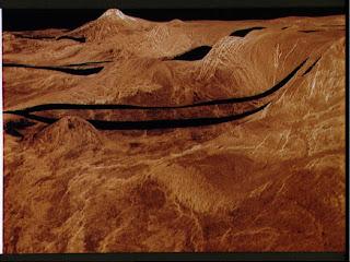 Superficie de Venus, generada por computador
