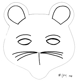 Art craft projects tiger and mouse mask for Printable mouse mask template