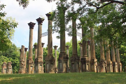 Natchez Trace Travel Windsor Ruins Port Gibson Alcorn