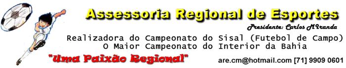 ASSESSORIA REGIONAL DE ESPORTES - Presidente: Carlos Miranda