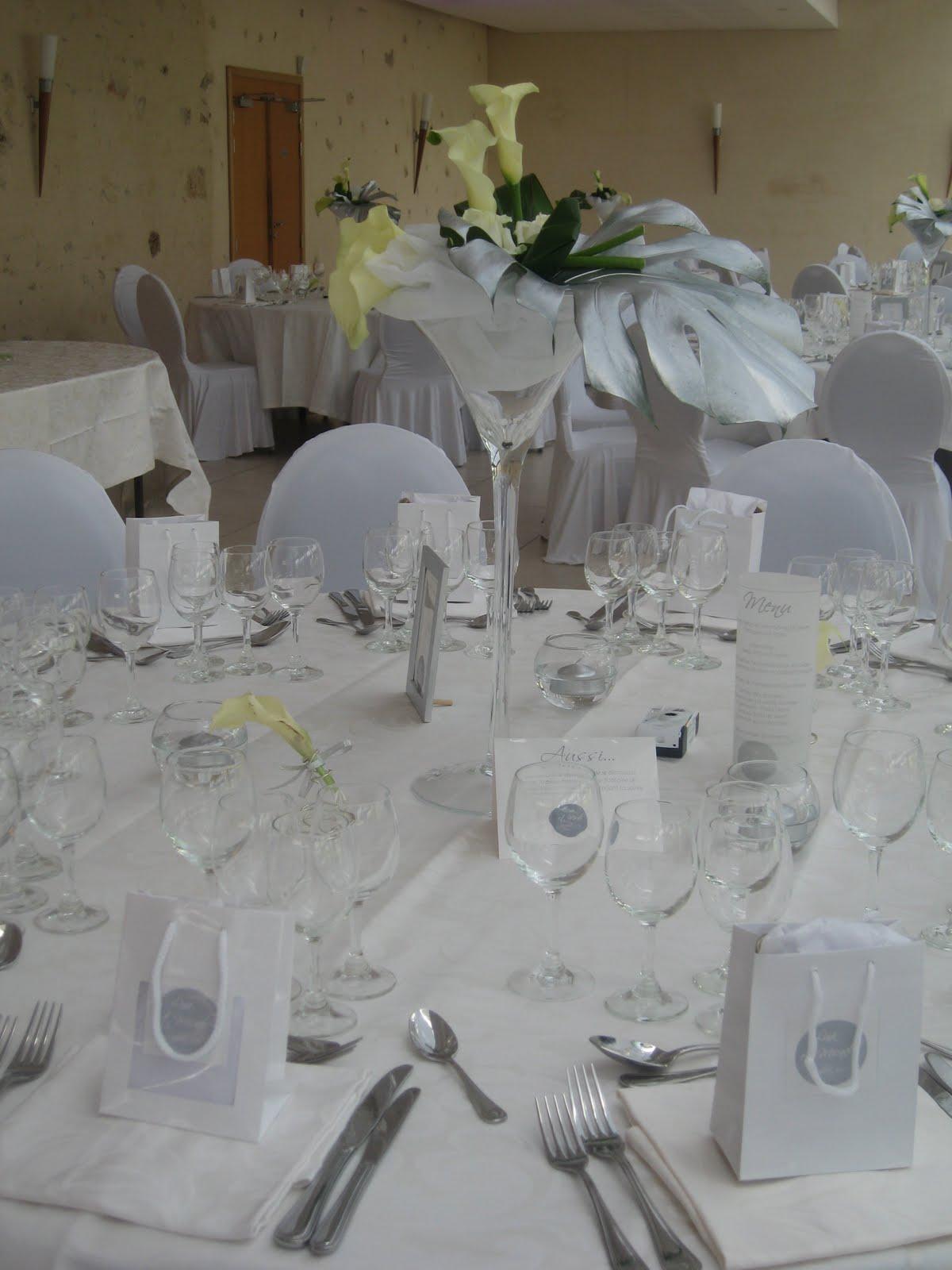 decoration table mariage epuree
