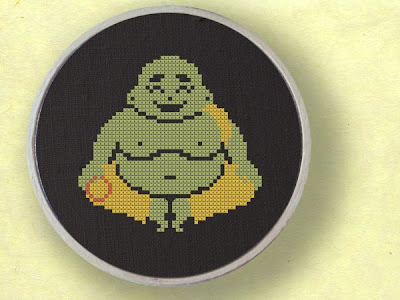 cross stitch buddha pattern
