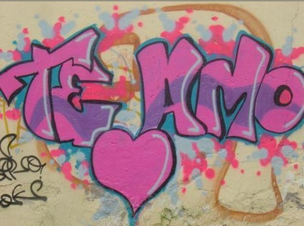 Como hacer graffitis en 3D q diga t amo - Imagui