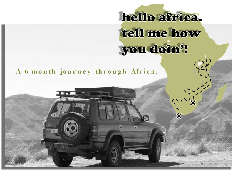 Hello Africa. Tell Me How You Doin'