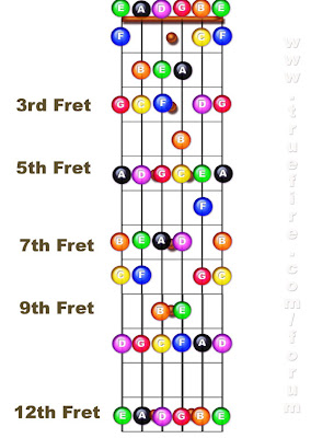 guitar notes fretboard diagram. 2011 Guitar Notes Fretboard.