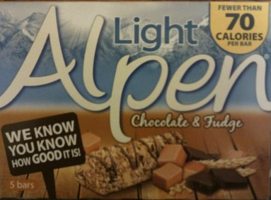 Diets and calories alpen light chocolate fudge bars alpen light chocolate fudge bars aloadofball Image collections
