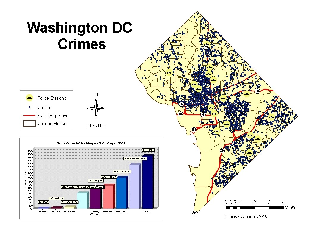 Mirandas GIS Blog Week  Washington DC Crimes - Washington dc gis map